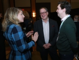 Canadian Heritage Minister Mélanie Joly speaking to Shaftesbury's Scott Garvie and Sphere Media's Jeremy Spry