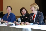 L to R: Senator Marilou McPhedran, Rear Admiral Jennifer Bennett and Janice Rubin from Rubin Thomlinson LLP.
