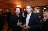 The CMF's Stéphane Cardin and DHX Media's Steven DeNure
