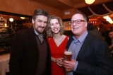 Prime Time Party (L to R): Peter Kelegan, Marguerite Pigott (CMPA), Scott Garvie (Shaftesbury/Smokebomb, CMPA)