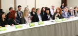 Women and Leadership in Media roundtable (L to R): Prem Gill (Creative BC), Catherine Tait (Duopoly), Sally Catto (CBC), Anne Gibeault (Epsilon Games), Tracey Deer (Mohawk Princess Pictures), Deborah Drisdell (Drisdell Consulting)