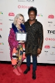 The Florida Project's Bria Vinaite with Best Film Award presenter Charles Officer