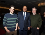 Evan Johnson, Ontario minister of tourism, culture and sport Michael Coteau, Guy Maddin