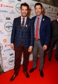 Jonathan Silver Scott, left, and Drew Scott arrive at the Producers Ball at the Royal Ontario Museum on Friday, September 11, 2015, in Toronto. (Photo by Arthur Mola/Invision for Producers Ball/AP Images)