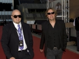 Brunico Communication's Joel Pinto and musician Stephen Stanley arrive at the ceremonies (photo: Linda Dawn Hammond)
