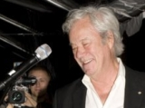 Gordon Pinsent presents and accepts for 2010 Hall of Fame inductee Donald Sutherland (photo: Linda Dawn Hammond)