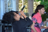 Slaight Music resident Casey Manierka-Quaile (right) performing at the 2016 CFC Annual Garden Party with singer Kamilah Apong (left)