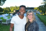 CFC Actors Conservatory alumnus Emmanuel Kabongo (Teenagers) with Christina Jennings, chair, board of directors, CFC and chairman & CEO, Shaftesbury