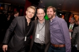 Flashpoint's David Paetkau, TV drama winner Larry Bambrick and Kevin White