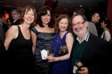 Stacey Kaser, Anne Marie Perotta, Elizabeth Stewart and Writer's Block Award recipient Chuck Lazer