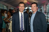 hon. michael chan (minister of international trade) with david carter (president, canada film capital)