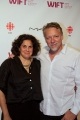 "jennifer baichwal and edward burtynsky, co-directors of ""watermark"", on the red carpet."
