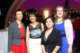 Andra Sheffer, Bell Fund, Lalita Krishna, Crystal Award winner, Marcia Douglas, Bell Fund, and guest.