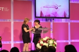 WIFT-T Executive Director Heather Webb presents Anne Dorval with her International Achievement Award at the 2014 WIFT-T Crystals. Credit: Yani Macute