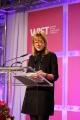 WIFT-T Board Chair Joanna Webb makes opening remarks at the 2104 WIFT-T Crystal Awards. Credit: Eduardo Perez