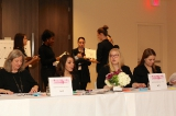 Volunteers manning registration at the 2014 WIFT-T Crystal Awards.