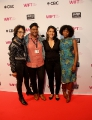 L to R: Producer Lalita Krishna, LIFT deputy director Renata Mohamed, Breakthroughs Film Festival managing director Mariam Zaidi and director Karen Chapman. Photo by Eduardo Pereira from  Eddy Perez Photography.