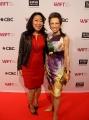 WIFT-T board member Gloria Kim with Michelle Levy at WIFT-T's TIFF reception. Photo by Eduardo Pereira from Eddy Perez Photography.