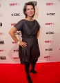 Telefilm Canada's exec director Christa Dickenson hits the red carpet at WIFT-T's TIFF reception. Photo by Eduardo Pereira from Eddy Perez Photography.