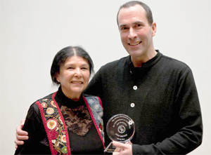 John Greyson with Alanis Obomsawin - photo Thanh Pham