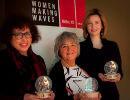 Noreen Golfman, Barbara Doran and Linda Wood