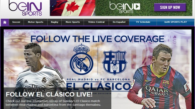 Copied from Media in Canada - bein sports