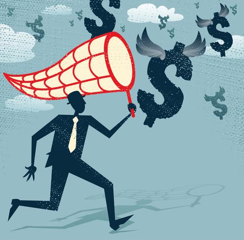 shutterstock_chasing money cash