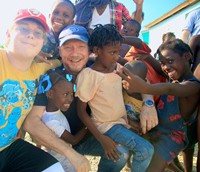 Haggis in Haiti with his charity, Artists for Peace and Justice