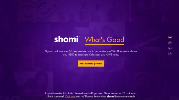Copied from Media in Canada - shomi