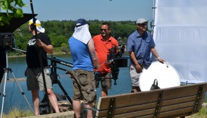 "Angel Entertainment crew shooting ""The Invincible Sergeant Bill"""