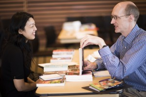 Vivian Lin (Sarrazin Productions) and Barry Jowett (Cormorant Books)