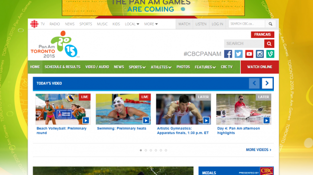 Copied from Media in Canada - Pan Am Games