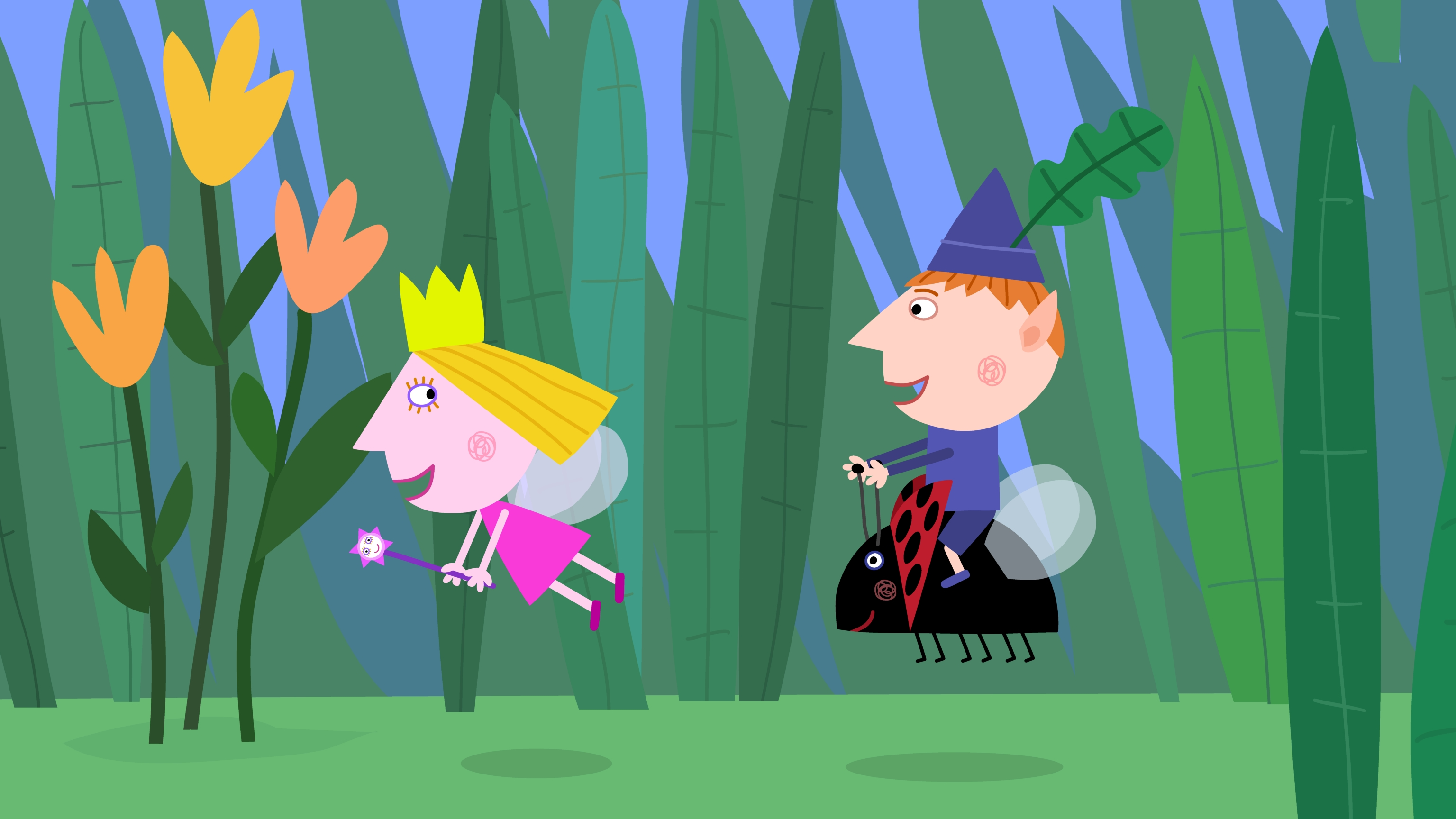Copied from Kidscreen - Ben and Holly flying
