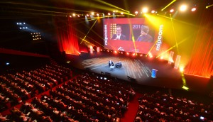 MIPCOM 2014 - CONFERENCE - MEDIA MASTERMIND KEYNOTE INTERVIEW - JAMES MURDOCH / 21ST CENTURY FOX - DAVID ROWAN / WIRED MAGAZINE - AUDIENCE