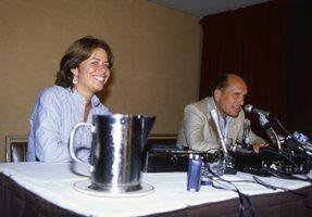 helga stephenson and robert duvall, at tiff 1983. credit:  tiff film reference library