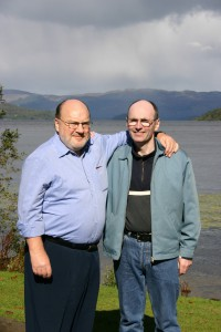 simpson in scotland with his cousin, joe mcgachy