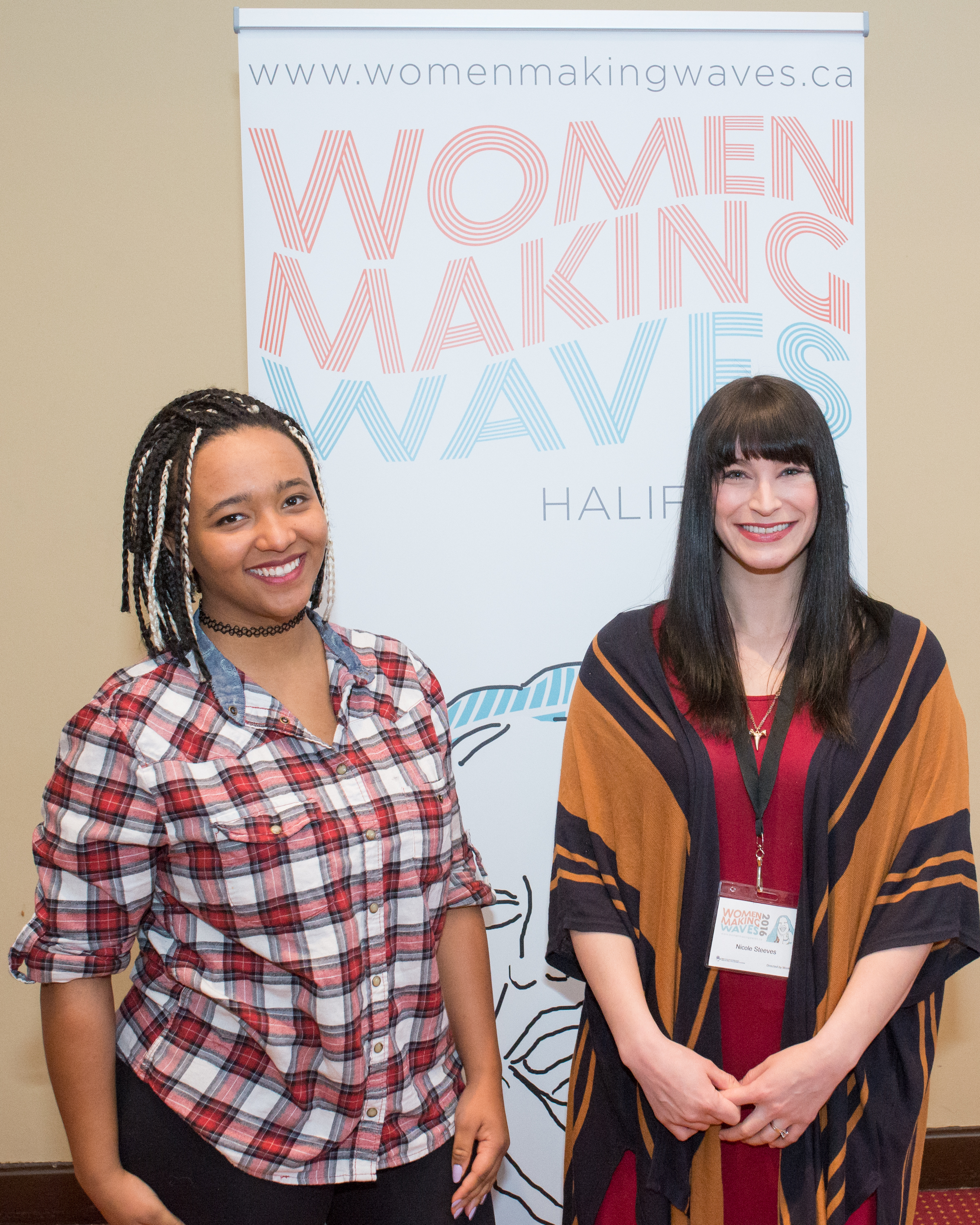 Koumbie and Nicole Steeves at this years Women Making Waves conference.