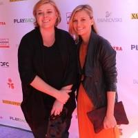 Larysa Kondracki and friend