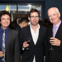 Ten to Watch nominees Ryan and Jason Belleville; HOF host Colin Mochrie