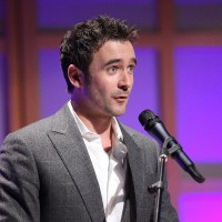 Allan Hawco accepts the 2011 Playback Outstanding Achievement Award