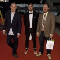 Writer Mark Dillon, and Ten to Watch inductees Cole Bastedo and Matt Huether (photo: Linda Dawn Hammond)