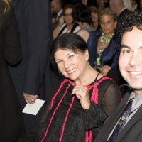 2010 Hall of Fame inductee Alanis Obomsawin and presenter Jason Ryle (photo: Linda Dawn Hammond)