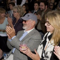 Director/presenter Norman Jewison and Lynne St. David (photo: Linda Dawn Hammond)