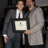 T2W honoree Kyle Mac and Aziz (photo: Linda Dawn Hammond)