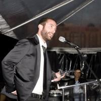Director Jacob Tierney accepts the Panavision Award (photo: Linda Dawn Hammond)