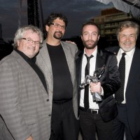 Producer Kevin Tierney, Stewart Aziz, Jacob Tierney and Art Hindle (photo: Linda Dawn Hammond)