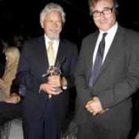 Suzuki and award presenter, the CBC's Michael Allder (photo: Linda Dawn Hammond)