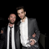 Award-winners Jacob Tierney and Jay Baruchel, who grew up on the same street in Montreal (photo: Linda Dawn Hammond)