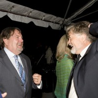 Don Carmody and Art Hindle celebrate after the Awards (photo: Linda Dawn Hammond)