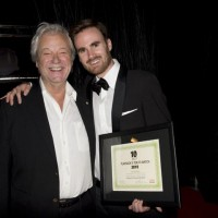 Gordon Pinsent and T2W honoree Cole Bastedo (photo: Linda Dawn Hammond)
